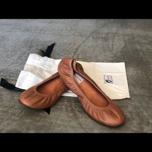 Brand new camel color Lanvin flats